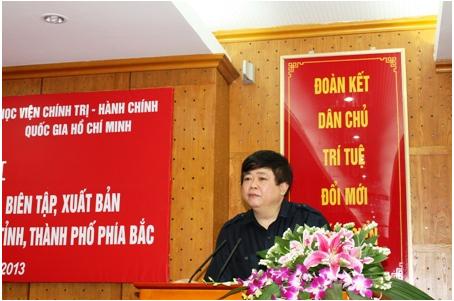 Pho truong Ban Tuyen giao Trung uong Nguyen The Ky phat bieu tai Hoi nghi