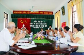 Hoi thao Lich su Dang bo va nhan dan thi tran Quan Chu ngay 26.7